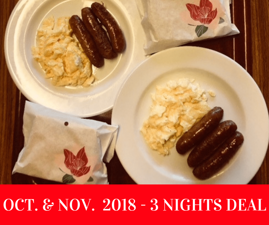 Oct and Nov 3 NIGHTS DEAL